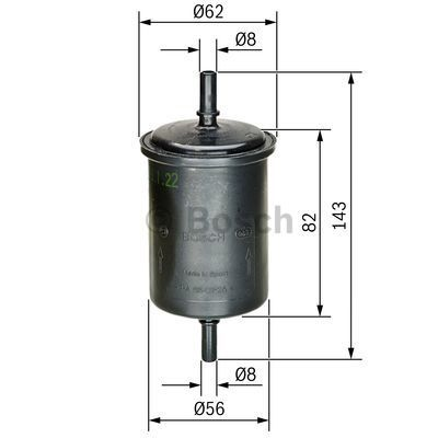 Filtro combustible BOSCH 0 450 902 161