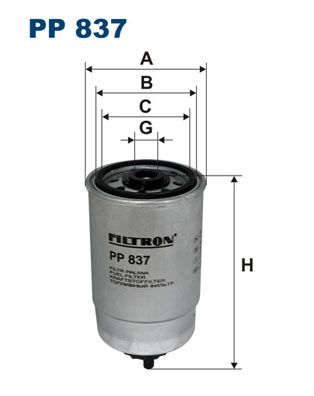 Filtro combustible FILTRON PP837
