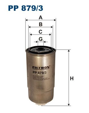 Filtro combustible FILTRON PP879/3